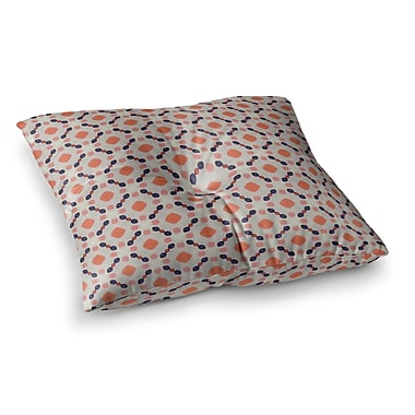 East Urban Home Monica Martinez Vintage Dots Illustration Square Throw Pillow; 23'' x 23''
