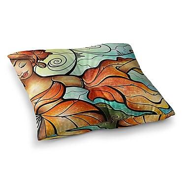 East Urban Home Mandie Manzano Cubana Dancing Square Floor Pillow; 23'' x 23''