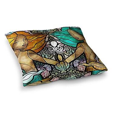 East Urban Home Mandie Manzano Mermaid Twins Square Floor Pillow; 26'' x 26''