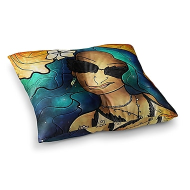 East Urban Home Mandie Manzano Let the Good Times Roll Square Floor Pillow; 26'' x 26''