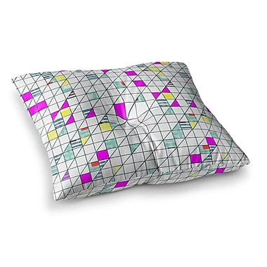 East Urban Home Michelle Drew Squares Abstract Geometry Square Floor Pillow; 26'' x 26''