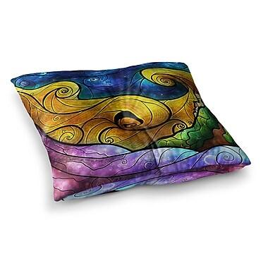 East Urban Home Mandie Manzano Starry Lights Square Floor Pillow; 26'' x 26''