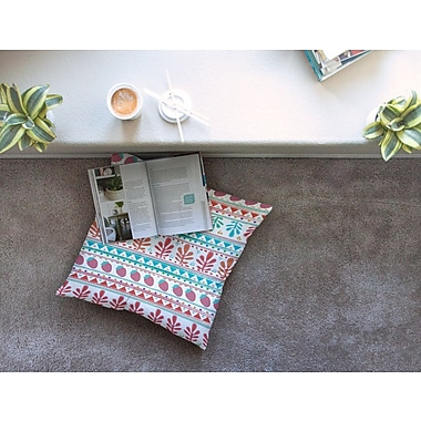 East Urban Home Nika Martinez Spring Strawberries Square Floor Pillow; 23'' x 23''