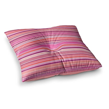 East Urban Home Nandita Singh Ribbons Blush Square Floor Pillow; 26'' x 26''
