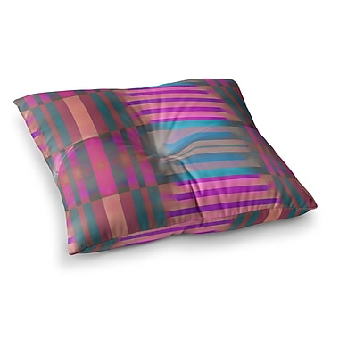 East Urban Home Nina May Tracking Stripes Square Floor Pillow; 26'' x 26''
