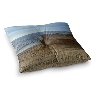 East Urban Home Nick Nareshni Rocks on The Beach Square Floor Pillow; 26'' x 26''