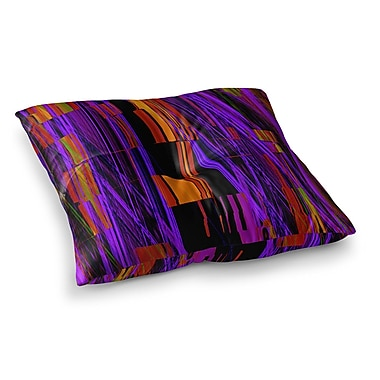 East Urban Home Nina May Threads Square Floor Pillow; 23'' x 23''