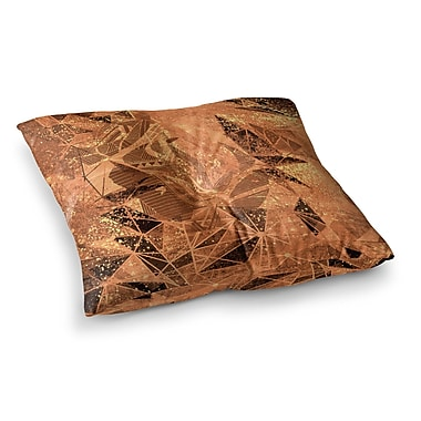 East Urban Home Marianna Tankelevich Geometry of Fire Mixed Media Square Floor Pillow; 26'' x 26''