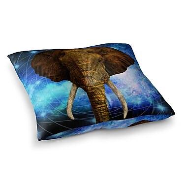 East Urban Home NL Designs Space Elephant Digital Square Floor Pillow; 26'' x 26''
