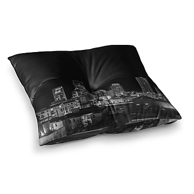 East Urban Home Nick Nareshni Cityscape Nights Photography Square Floor Pillow; 23'' x 23''