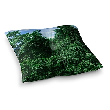 East Urban Home Nick Nareshni Forest in The Sky Photography Square Floor Pillow; 26'' x 26''