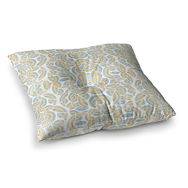 East Urban Home Pom Graphic Design Infinite Thoughts Square Floor Pillow; 23'' x 23''
