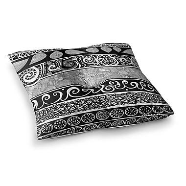 East Urban Home Pom Graphic Design Tribal Evolution Square Floor Pillow; 23'' x 23''