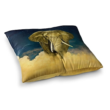 East Urban Home Nick Atkinson Celestial Elephant Square Floor Pillow; 23'' x 23''