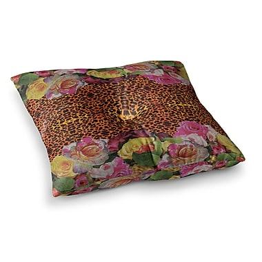 East Urban Home Nina May New Rose Eleo Square Floor Pillow; 23'' x 23''