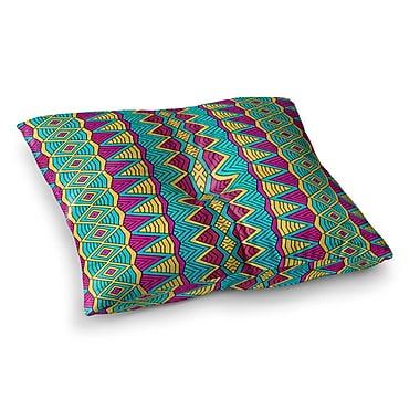 East Urban Home Pom Graphic Design Tribal Soul II Square Floor Pillow; 23'' x 23''