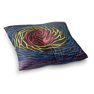 East Urban Home NL Designs Rainbow Vortex Multicolor Illustration Square Floor Pillow; 23'' x 23''