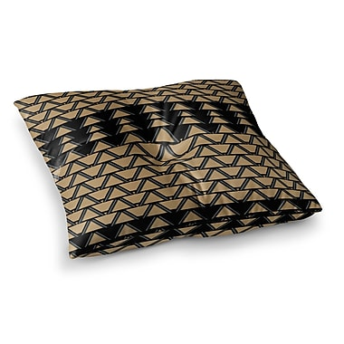 East Urban Home Nina May Deco Angles Square Floor Pillow; 23'' x 23''