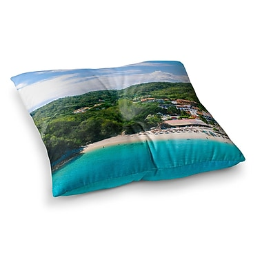 East Urban Home Nick Nareshni Forest on The Beach Photography Square Floor Pillow; 26'' x 26''