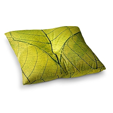 East Urban Home Robin Dickinson Every Leaf a Flower Square Floor Pillow; 26'' x 26''
