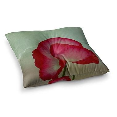 East Urban Home Robin Dickinson La Te Da Poppies Square Floor Pillow; 23'' x 23''