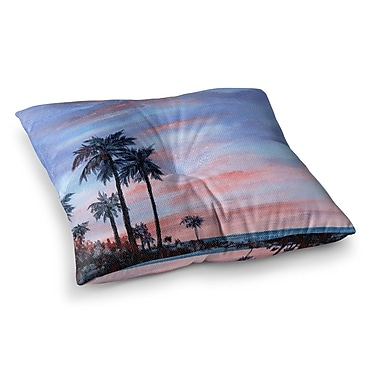 East Urban Home Rosie Brown Florida Sunset Square Floor Pillow; 26'' x 26''