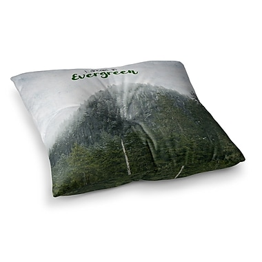 East Urban Home Robin Dickinson I Dream in Evergreen Photography Square Floor Pillow; 26'' x 26''