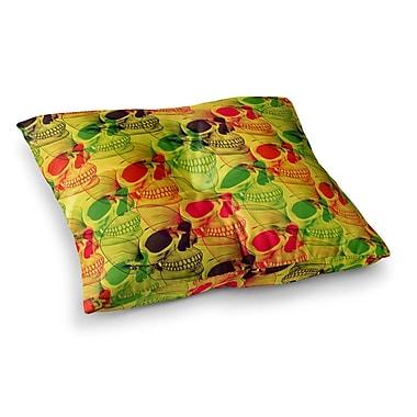 East Urban Home Roberlan Skullfest Square Floor Pillow; 26'' x 26''