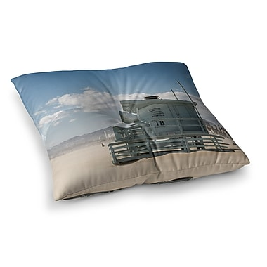 East Urban Home Juan Paolo No Lifeguard on Duty Square Floor Pillow; 26'' x 26''