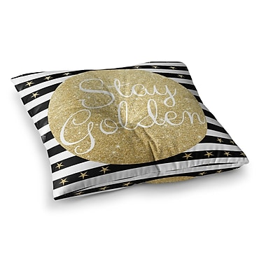 East Urban Home Richard Casillas Stay Golden Square Floor Pillow; 23'' x 23''
