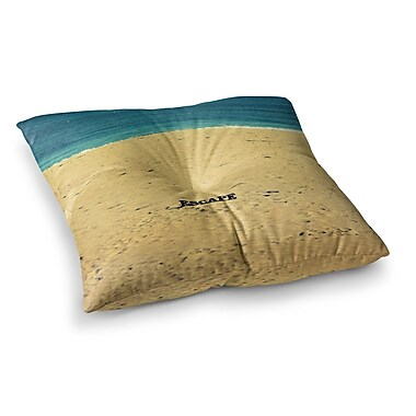 East Urban Home Robin Dickinson Escape Beach Sand Square Floor Pillow; 23'' x 23''