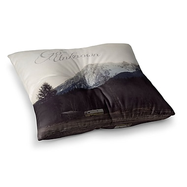 East Urban Home Robin Dickinson Go into the Unknown Square Floor Pillow; 23'' x 23''