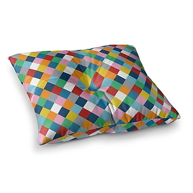 East Urban Home Project M Harlequin Zoom Square Floor Pillow; 23'' x 23''