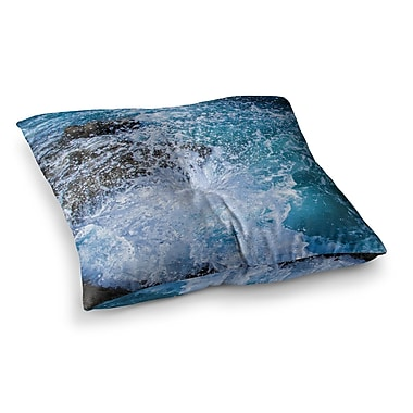 East Urban Home Juan Paolo La Jolla Shores Square Floor Pillow; 26'' x 26''