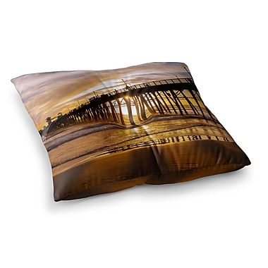 East Urban Home Juan Paolo The Golden Hour Square Floor Pillow; 26'' x 26''