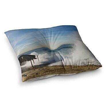 East Urban Home Nick Nareshni Hut w/ Crashing Wave Square Floor Pillow; 26'' x 26''