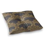 East Urban Home Nandita Singh Decorative Motif Copper Floral Square Floor Pillow; 23'' x 23''