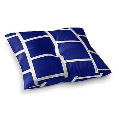 East Urban Home NL designs Square Blocks Pattern Square Floor Pillow; 23'' x 23''