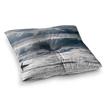 East Urban Home Nick Nareshni Lone Surfer Square Floor Pillow; 23'' x 23''