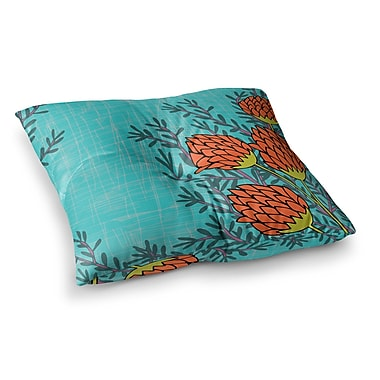 East Urban Home Nandita Singh Flowers Square Floor Pillow; 23'' x 23''