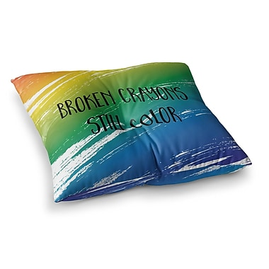 East Urban Home NL designs Broken Abstract Square Floor Pillow; 26'' x 26''