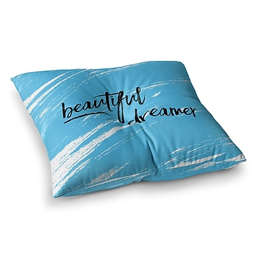 East Urban Home NL designs Beautiful Dreamer Typography Square Floor Pillow; 26'' x 26''