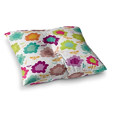East Urban Home Nicole Ketchum Bee Highway Square Floor Pillow; 23'' x 23''