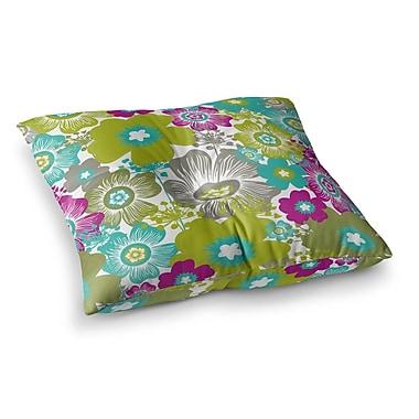 East Urban Home Nicole Ketchum Little Bloom Square Floor Pillow; 23'' x 23''