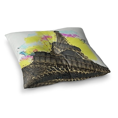 East Urban Home Oriana Cordero Eifel - Bon Jour Paris Square Floor Pillow; 23'' x 23''