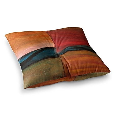 East Urban Home Nathan Gibbs The Man Who Surfed The Ocean Maroon Painting Square Floor Pillow