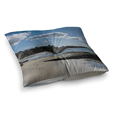East Urban Home Nick Nareshni Clouds over Swamis Beach Square Floor Pillow; 23'' x 23''