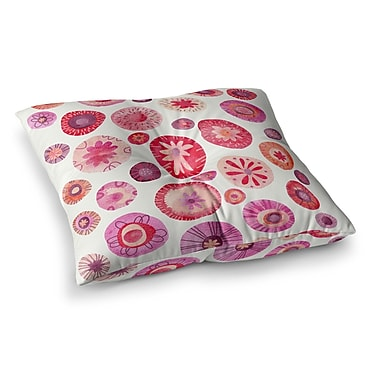 East Urban Home Nic Squirrell All The Flowers Square Floor Pillow; 26'' x 26''