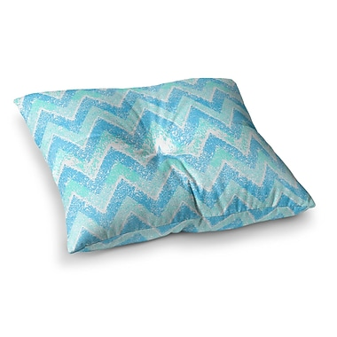 East Urban Home Marianna Tankelevich Mint Snow Chevron Chevron Square Floor Pillow; 23'' x 23''