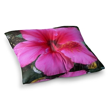 East Urban Home NL Designs Tropical Hibiscus Floral Square Floor Pillow; 23'' x 23''